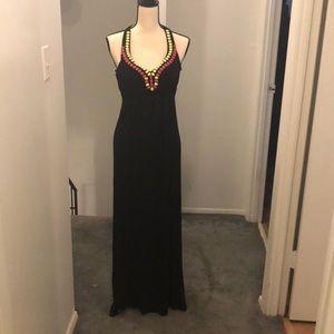 Adorable black maxi dress.